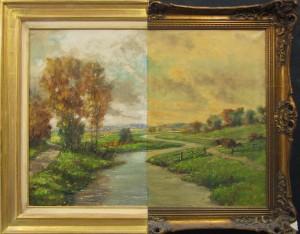 Schilderijrestauratie voor en na